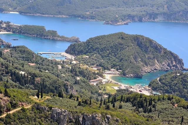View over Paleokastritsa