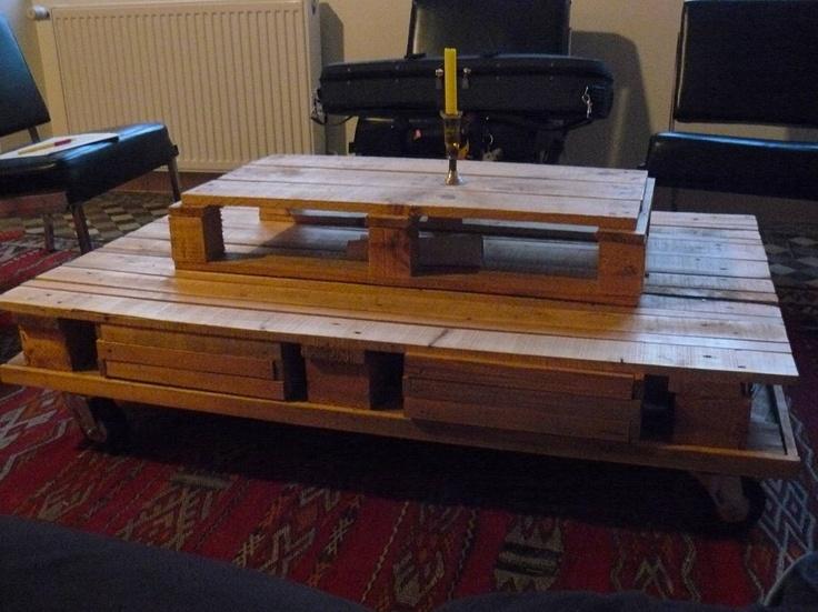 table basse sur roulettes 2 lizpat d co r cup pinterest. Black Bedroom Furniture Sets. Home Design Ideas