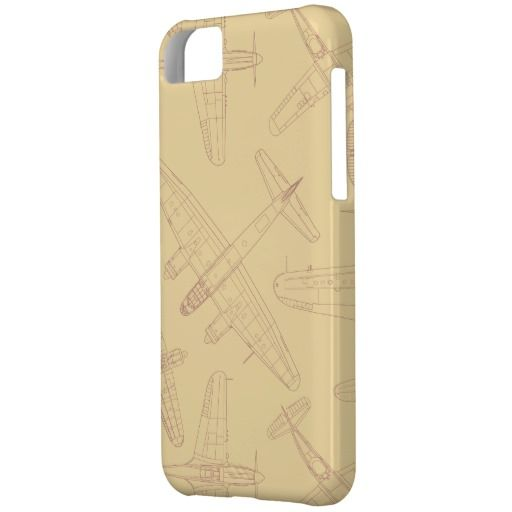 Vintage planes pattern iPhone 5C cover
