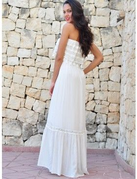 Vestido Blanco Largo Ibicenco VL258