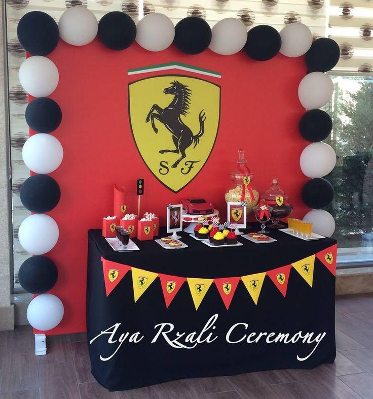 Ferrari birthday party Ferrari temasında hazırladığımız candy bardan detallar…