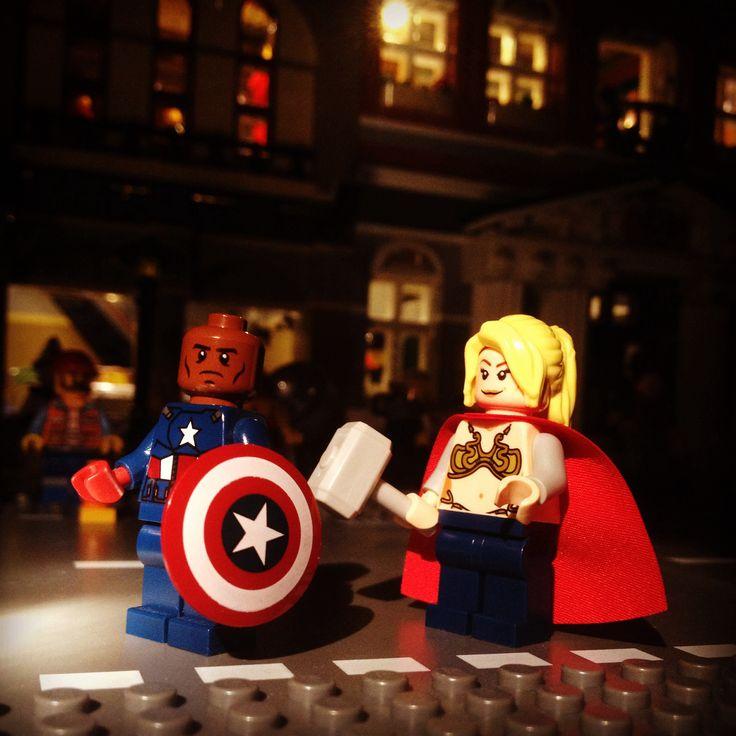 New Avengers Black Falcon Captain America Female Thor