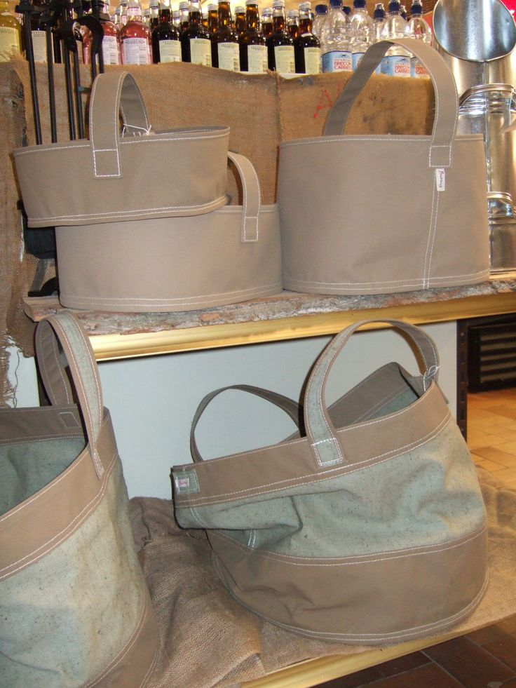 Canvas Trugs and Log Baskets from Threadform