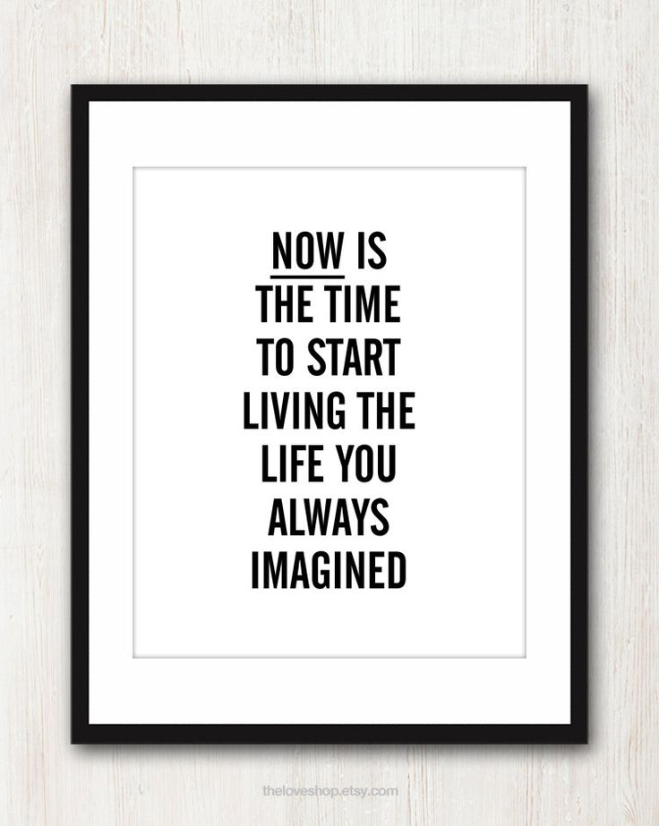 Live The Life You Imagined - Inspiring quote print in 8x10 on A4 (in Black and White). $20.00, via Etsy.