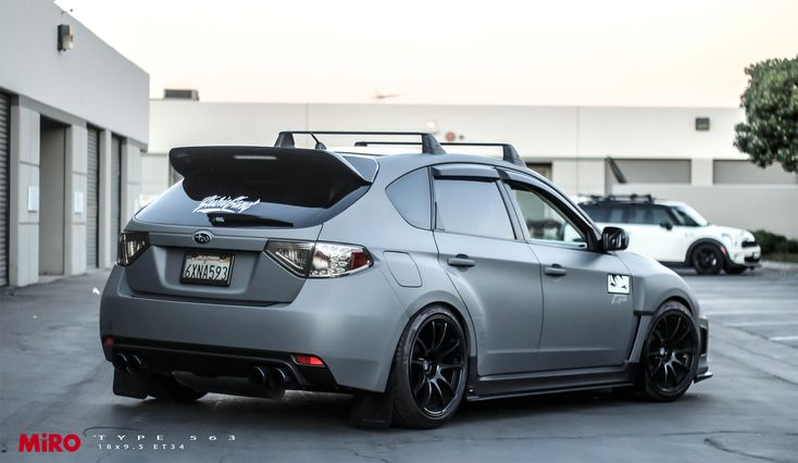 2013 Subaru WRX Hatchback with MiRO TYPE 563 wheels. 18x9.5 ET34.