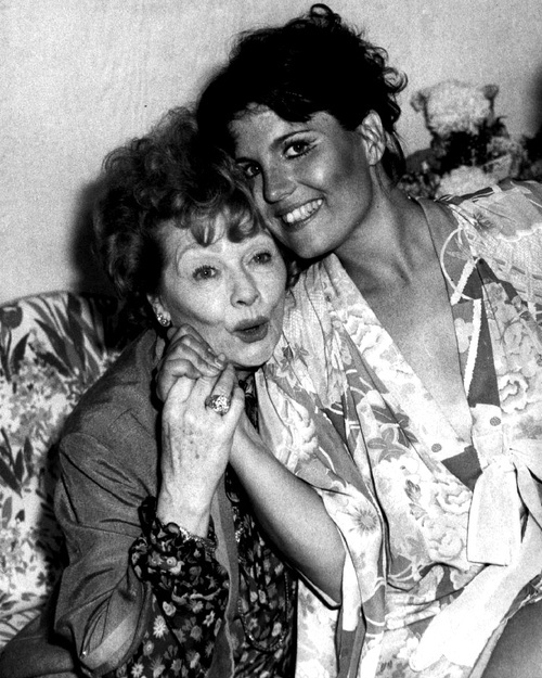 Lucille Ball and daughter Lucie Arnaz photographed in 1981