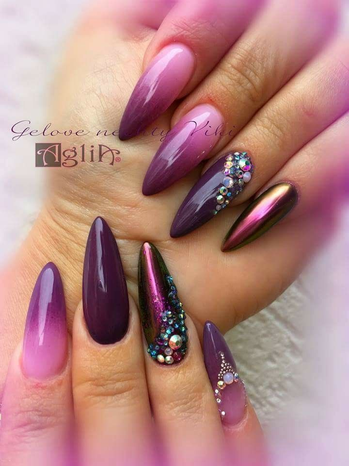 best 25 purple stiletto nails ideas on pinterest