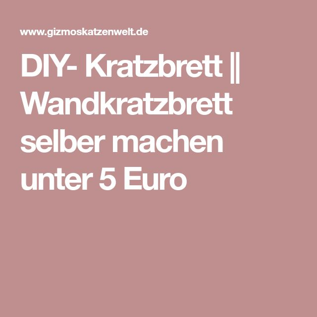 DIY- Kratzbrett || Wandkratzbrett selber machen unter 5 Euro