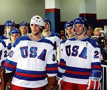 Miracle - I could watch this movie about the 1980 Olympic Hockey team every day in the winter! SOOOOO Inspiring!