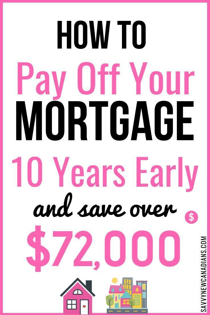 How To Pay Off Your Mortgage 10 Years Early And Save 72 000 In The Process Mortgage Tips Money Saving Tips Debt Free