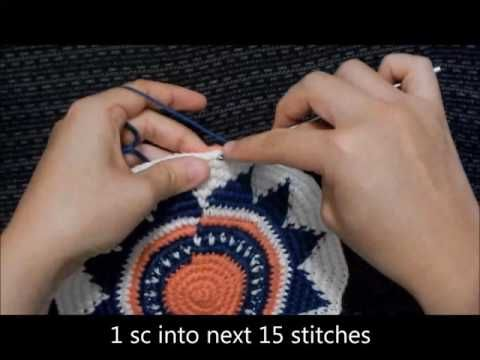 How to Crochet a Round Base in One Continuous Round (Wayuu-Style) – All Tapestry Crochet