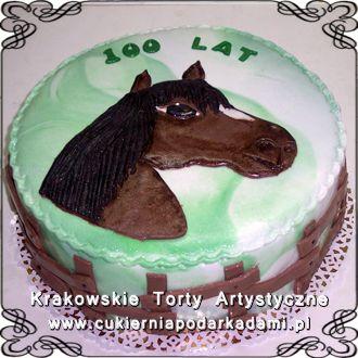 004. Tort z głową konia na urodziny taty. Cake with a horse for dad's birthday.