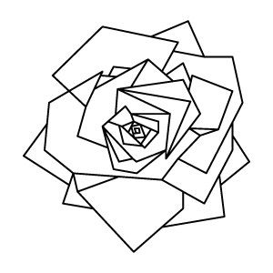 Geometric Rose Design - Again minimal, yet complex and dynamic. It's currently on one of my main walls and I've loved it for weeks.