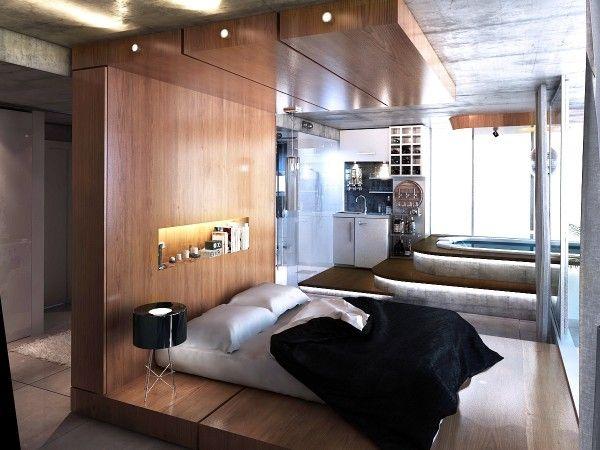 O quarto ao lado do designer Hüseyin Sedef usa, compreensivelmente, a cama como seu ponto focal.  O dossel de madeira, que é realmente construído para o quarto, cria uma sensação separada e fechada que é bonito para dormir sem realmente fechar a cama. Este quarto também dispõe de uma casa de banho privativa de luxo que inclui uma banheira de hidromassagem privada e uma enorme inspirado cachoeira chuveiro.  Do outro lado do dossel da cama é uma linda área de vaidade pouco.