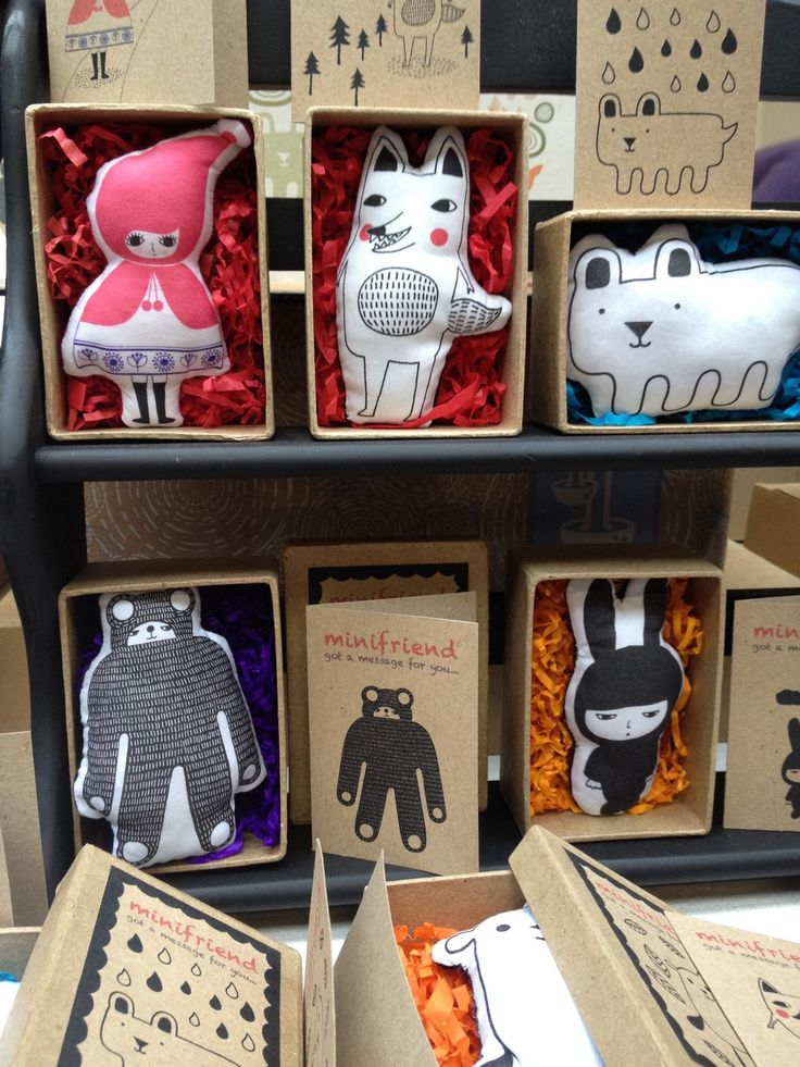 Packaging for dolls & Stuffed animals, I like the card that goes with each one.