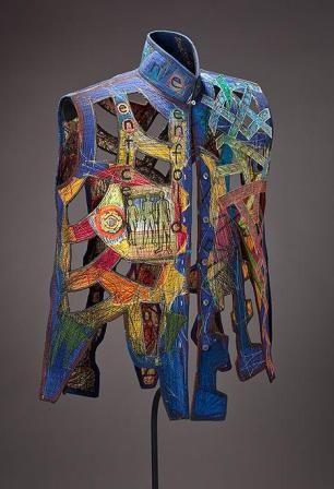 необычный арт-текстиль Кей Хан
