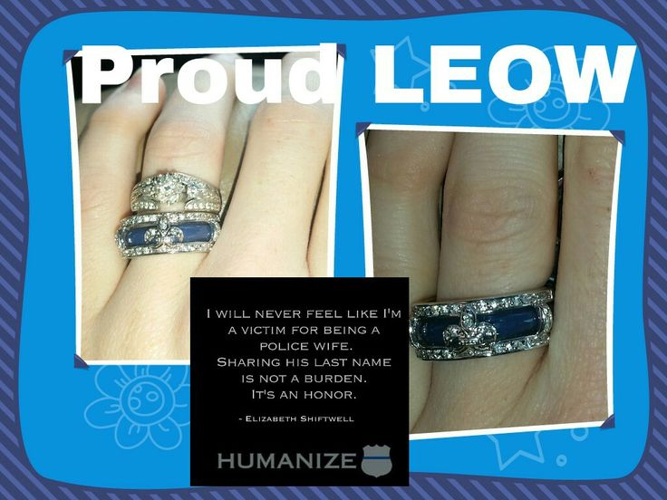 It is my joy and honor to support my LEO. I love being able to physcially show my dedication to him and our blue line family.  My LEOW ring is a stunning and so me.  Diamonds and fleur de lis.  What more could a proud Louisiana LEOW want?