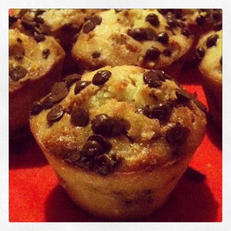 Muffin con gocce di cioccolato. #evasionicreative