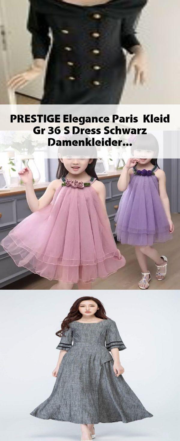 PRESTIGE Elegance Paris Kleid Gr. 15 S Dress Schwarz #Damenkleider