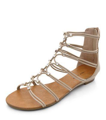 Stone Diamante Strappy Sandals