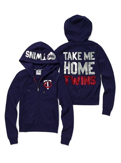 Minnesota Twins Bling Zip Hoodie - Victoria's Secret Pink® - Victoria's Secret