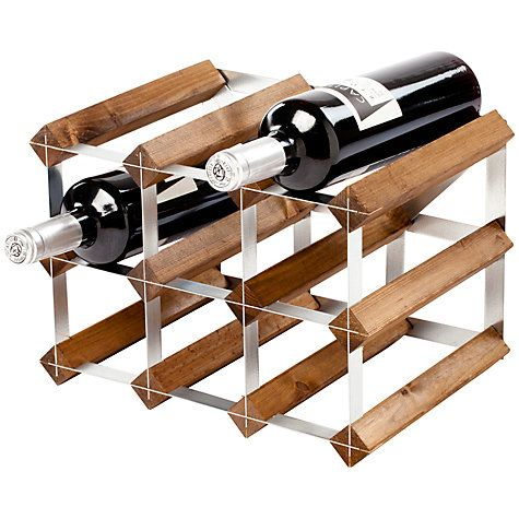 Buy Traditional Wine Rack Co. Dark Wood Wine Rack, 9 Bottle Online at johnlewis.com