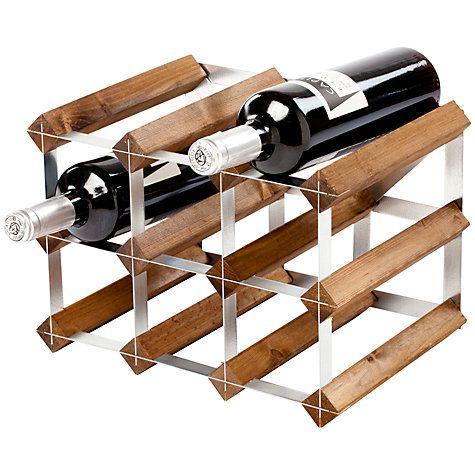 Buy Traditional Wine Rack Co. Dark Wood Wine Rack, 9 Bottle Online at johnlewis.com