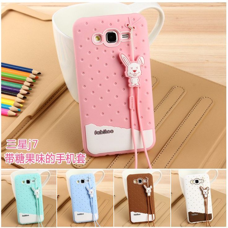 FABITOO 3D Cute Cartoon Soft Silicone Phone Cases For Samsung Galaxy J7