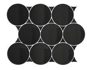 Dot Black Mosaic Glossy 300X350