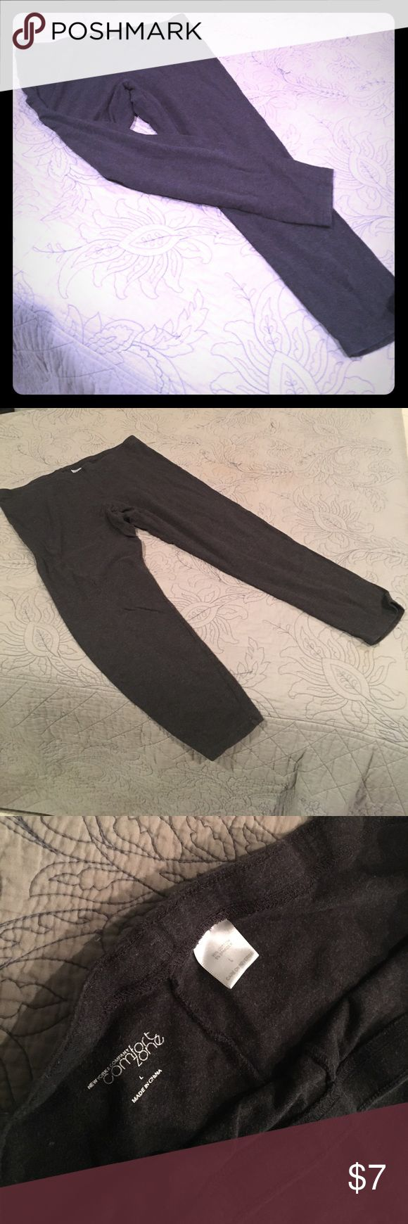 Cropped charcoal leggings from NY & Co Cropped charcoal leggings from NY & Co. super soft. New York & Company Pants Leggings