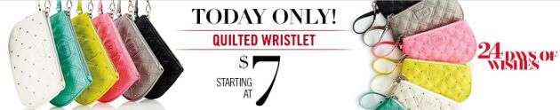 Charlotte Russe Deals | 24 Days of Wishes: Quilted wristlets for as little as $7!