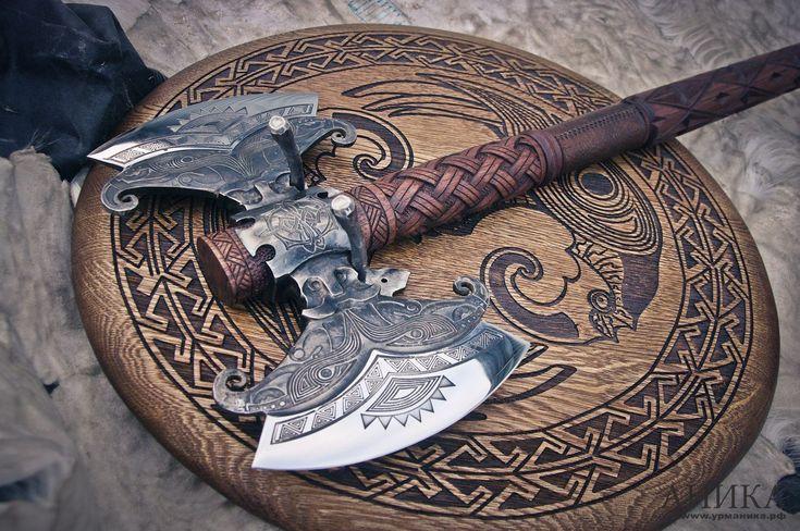 Hand forged hafted axe Hrafnagud custom axe hafted…