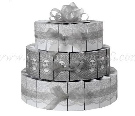 Kit torta 54 scatoline bomboniere Mathilde M.