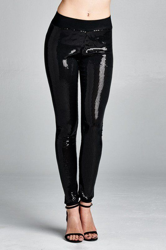 Black Sequins Leggings for that Special Event!