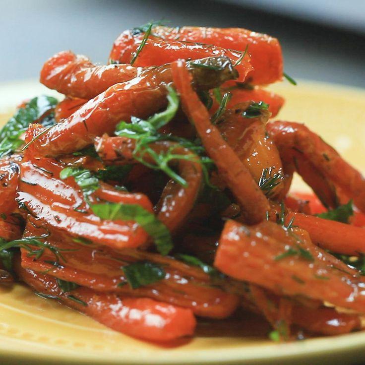 Гарнир морковь запечённая