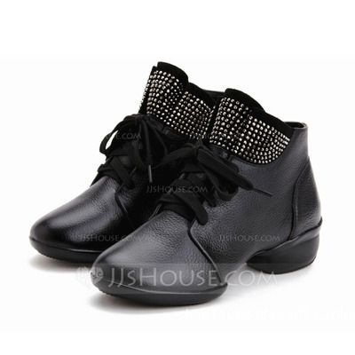 Women's Real Leather Sneakers Practice Dance Shoes (053073842)