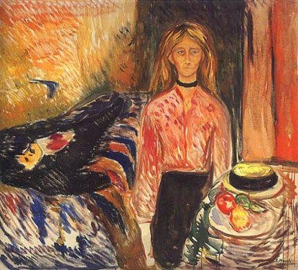 Edvard Munch (1863-1944) - 1906-07, The Murderess II - Tulla Larsen