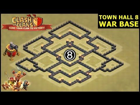 base defense clash of clans town hall 8 base coc base design layout android gameplay - Layout Cv 4 Guerra