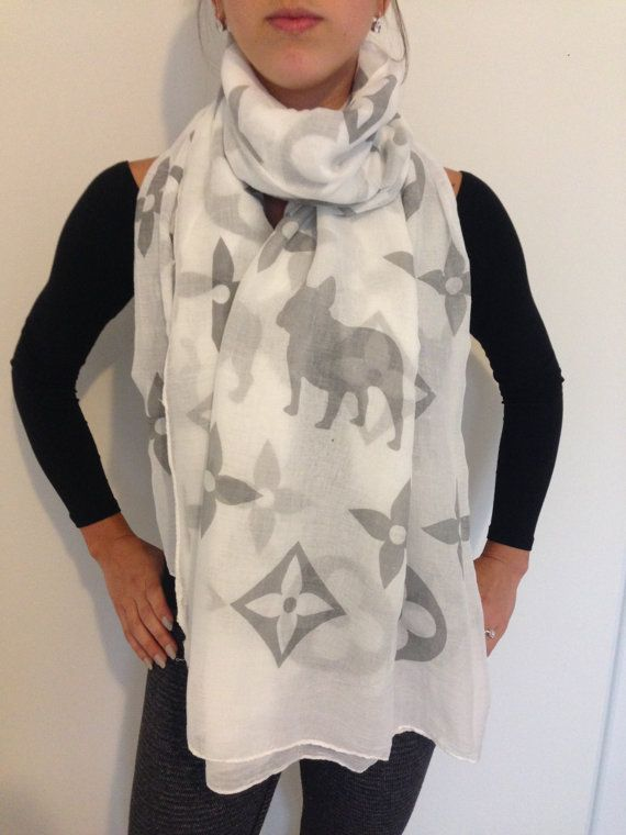 Louis Vuitton French Bulldog Scarf Frenchie by MotherOfFrench