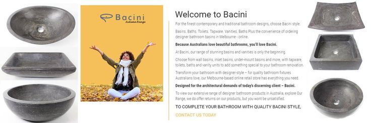 bacinistyle.com.au/product-cat… - Revamp your bathroom with stylish and durable bathroom basins from Bacini at affordable prices.
