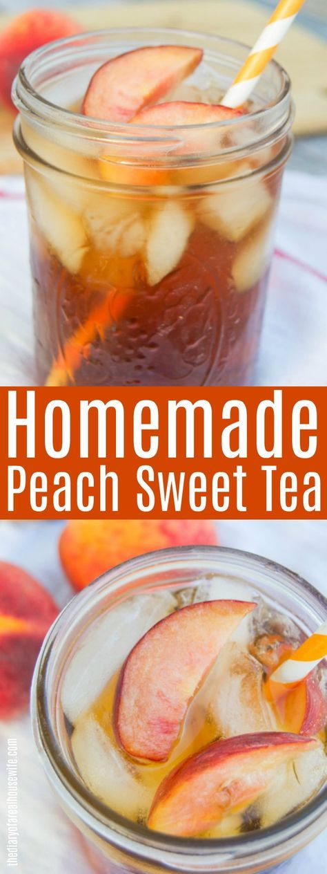 Peach Sweet Tea! The BEST summer drink recipe. #summer #sweettea