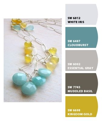 Like this colour combo for a living room. Paint colors from Chip It! by Sherwin-Williams
