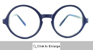 Crayon Big Round Clear Glasses - 553 Blue