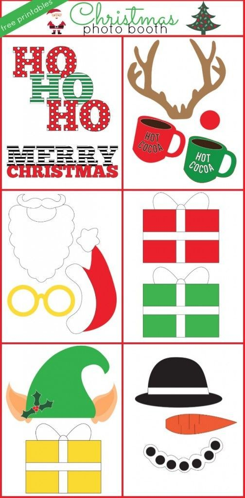 Christmas photo booth props--free print downloads