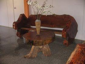 A natureza nos oferece tamanha beleza. Temos aqui lindos móveis rústicos.   Veja quanta coisa bonita se faz com troncos de madeira: