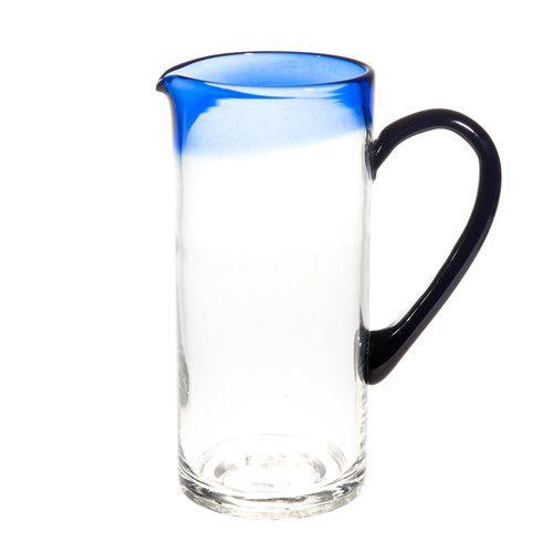 Pichet en verre bleu CYCLADES