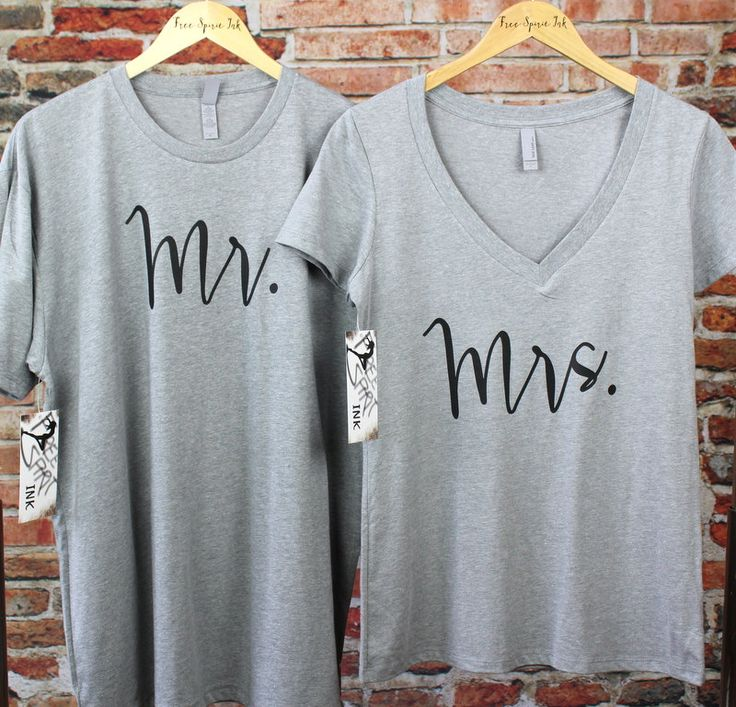 MR and MRS Shirt Set. Wedding Gift. Couples Shirts. Mr. and Mrs. T-Shirts. Hubby Shirt. Wifey Shirt. Honeymoon Shirts. Hubby Tee. Wifey Tee by FreeSpiritInk on Etsy