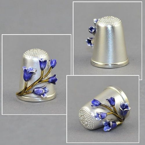 RARE HAND PAINTED ENAMEL FLOWER THIMBLE / May 12, 2015 / GBP 76.00