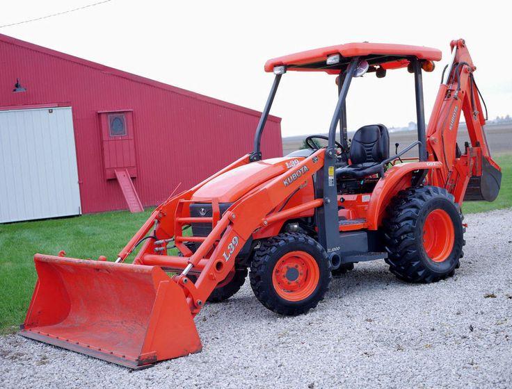SUPER NICE! Kubota L39 GST 4X4 Diesel Tractor Loader Backhoe LOW HOURS & Extras!