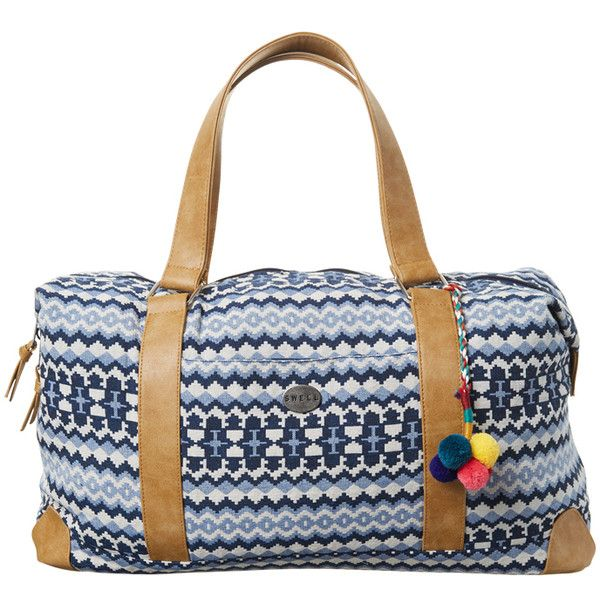 Swell Tapestry Duffle Bag Blue ($69) ❤ liked on Polyvore featuring bags, luggage, accessories, blue and women